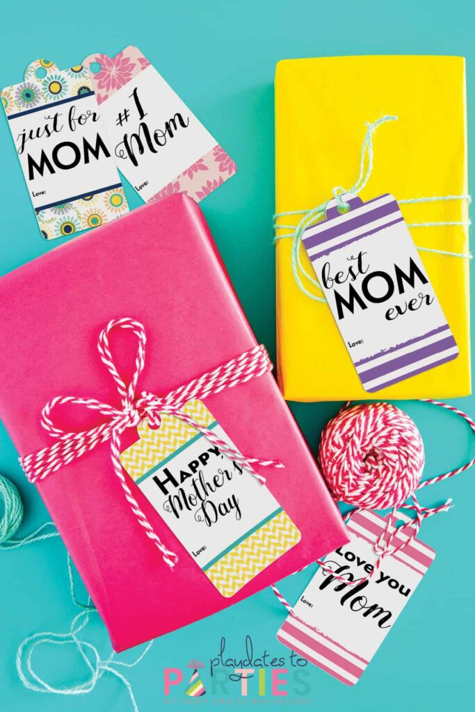 6 Printable Mother's Day gift tags