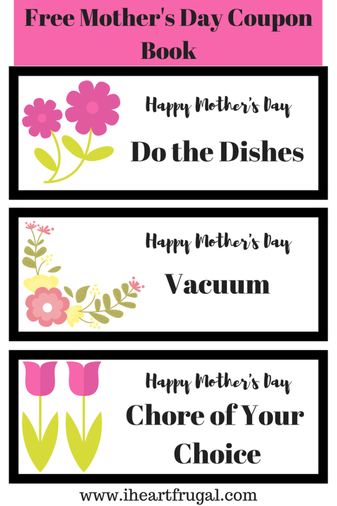 Mother's Day Chore Coupon Book