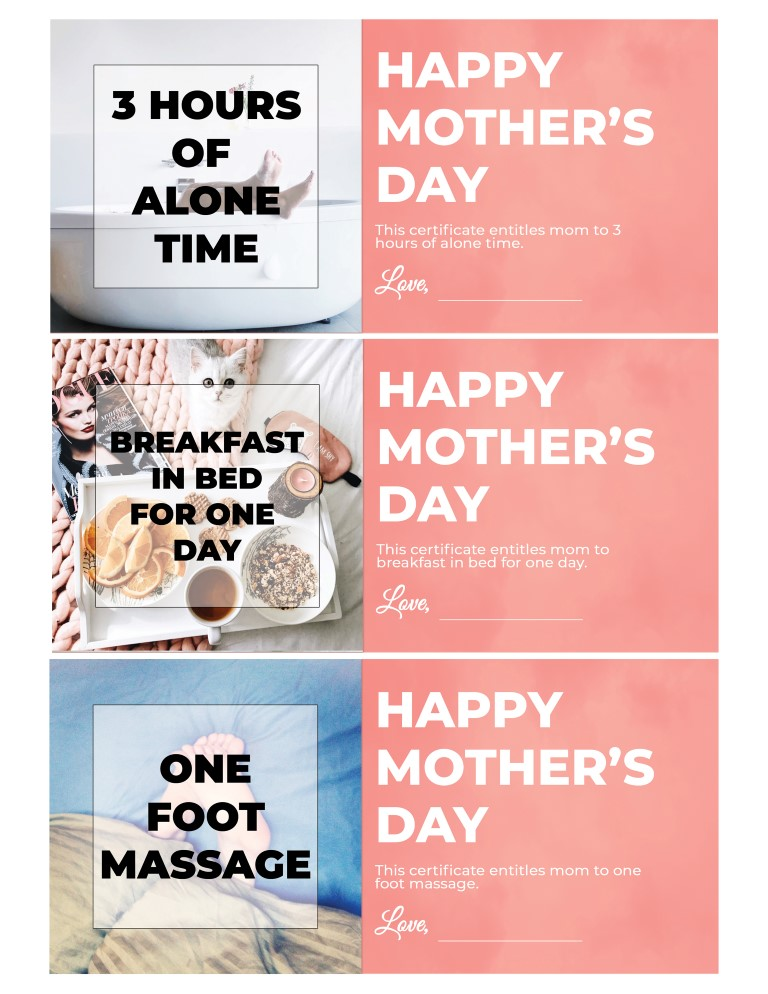 Free Printable Last Minute Mother's Day Coupons