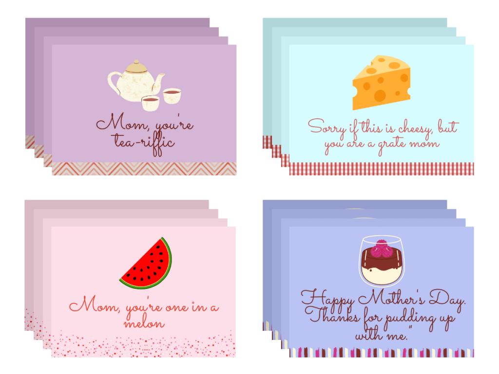 Funny Food-Themed Mother's Day Cards