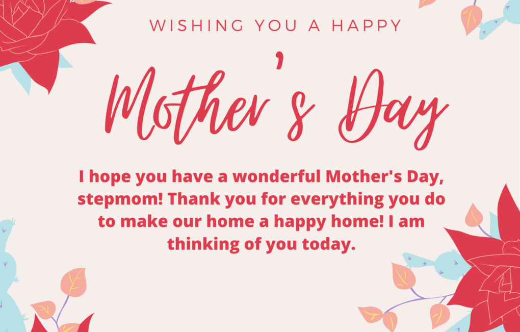 Mother's Day Cards For Stepmoms