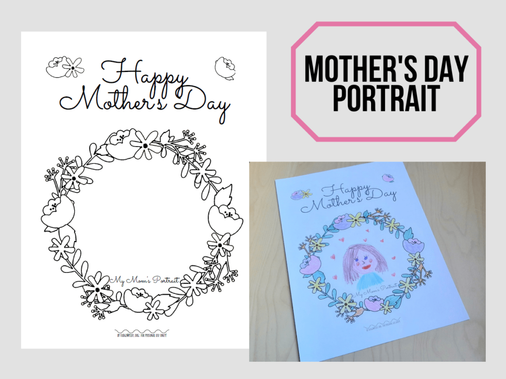 A Coloring Page to Make A Portrait of your Mom