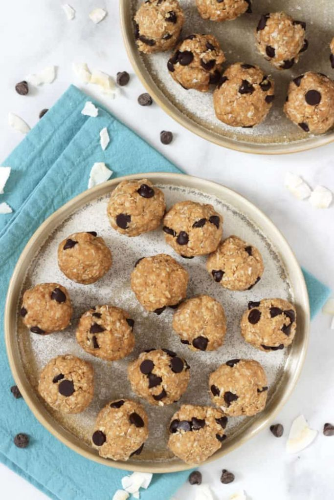 Peanut Butter Balls with Chocolate Chips