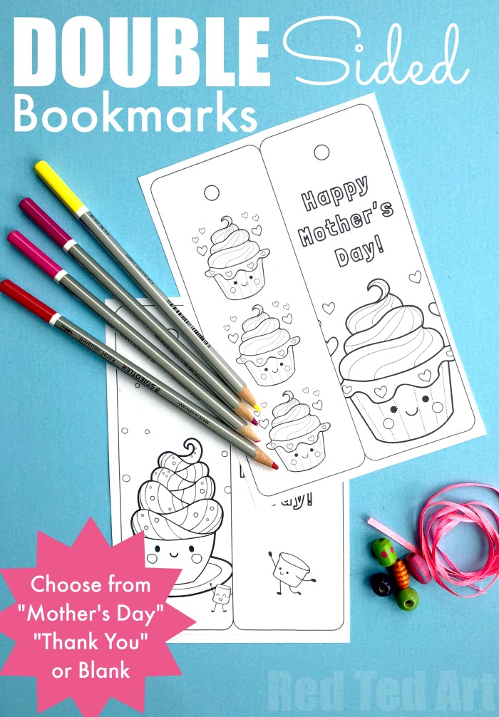 Happy Mother's Day Cupcake Bookmark