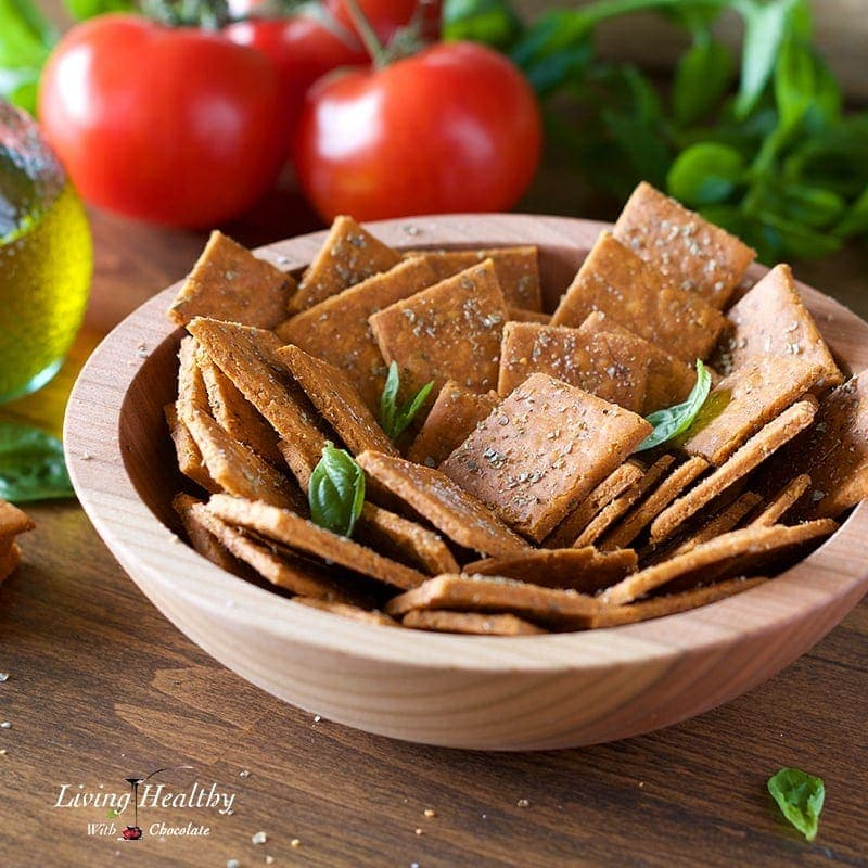 Crackers with Cassava flour - Pizza Crackers