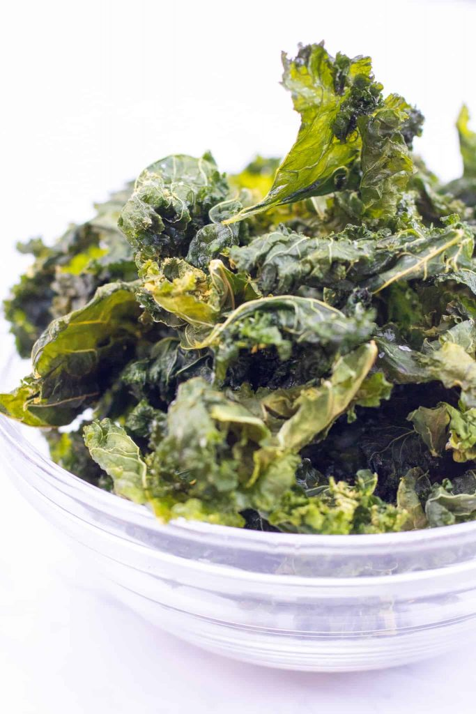 healthy homemade chips with kale