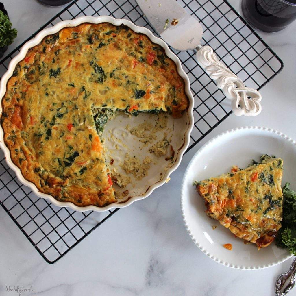 Healthy Breakfast Meal Prep - Crustless Vegetable and Sausage Quiche