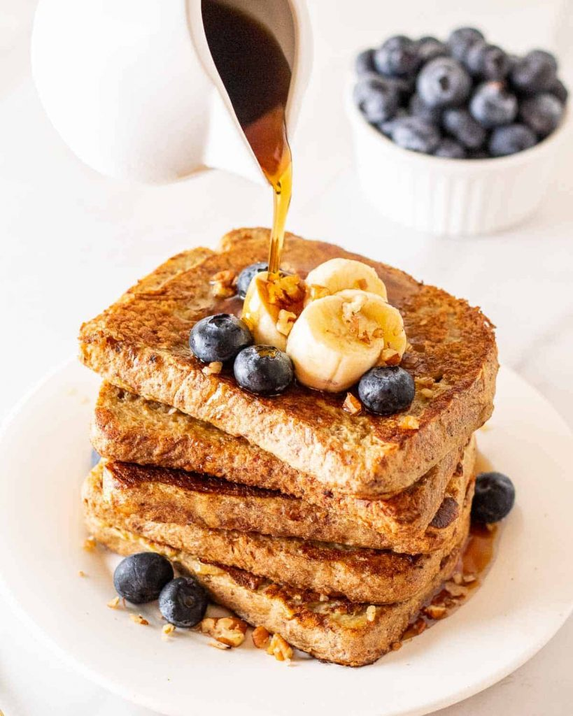 Healthy Breakfast Meal Prep - Eggless French Toast