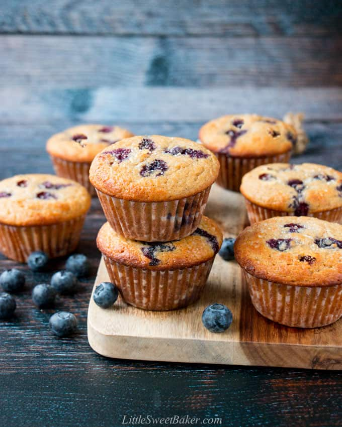 Healthy Breakfast Meal Prep - Healthy Blueberry Muffins