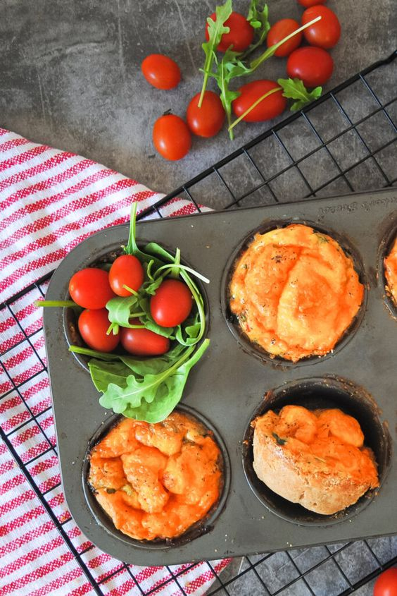 Healthy Breakfast Meal Prep - Healthy Whole Wheat Mini Veggie Quiches