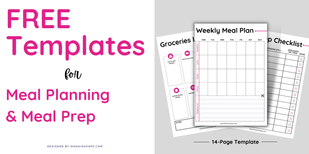 Free Templates for Meal Planning and Meal Prep